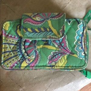 Vera Bradley Wallet with wristlet and phone pocket